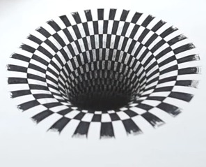 hole drawing illusion