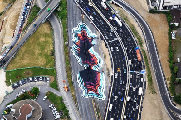 1010 highway optical illusion france