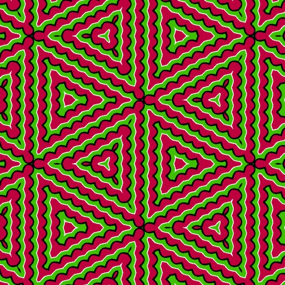 pulsating color illusion