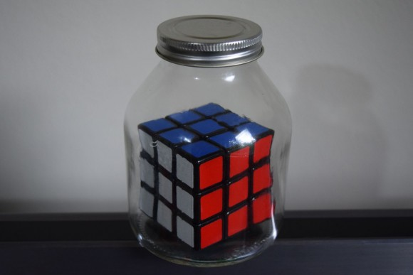 rubiks cube in a jar