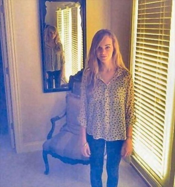 creepy mirror illusion