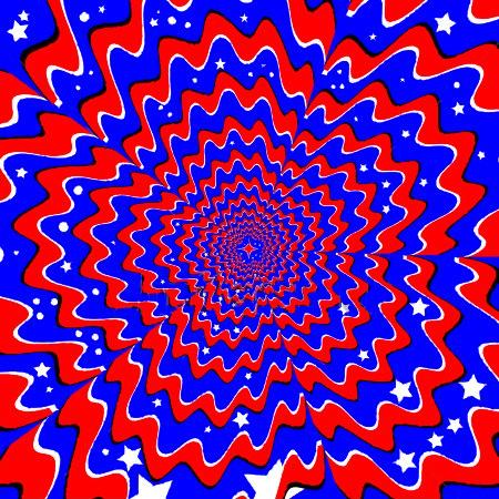 red white and blue patriotic illusion