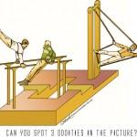 gymnast optical illusion