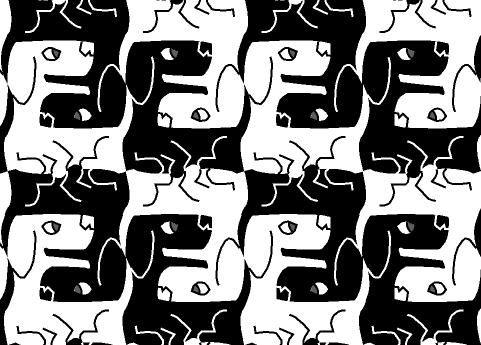 black dog white dog illusion