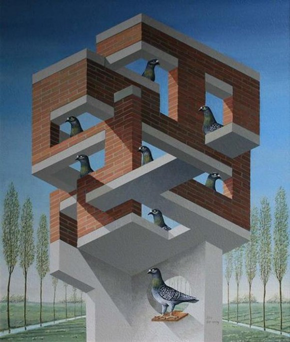 pigeons in an impossible structure