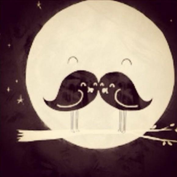 mustache illusion