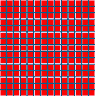 Count The Orange Spots Illusion