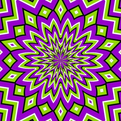 3 Moving Patterns Optical Illusion