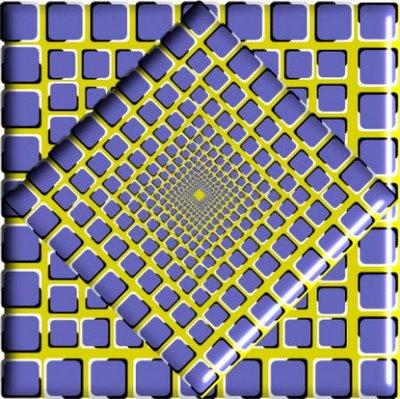 3 Moving Patterns Optical Illusion