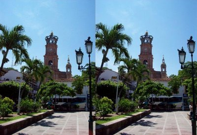 Church Stereogram Optical Illusion