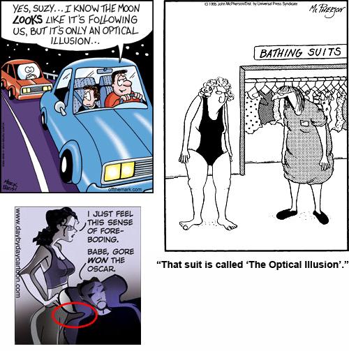 "funny illusions. Some ""Optical Illusion"" Comics"