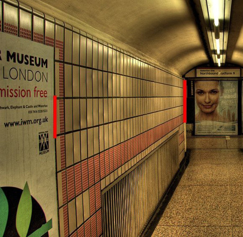 Subway Ponzo Optical Illusion