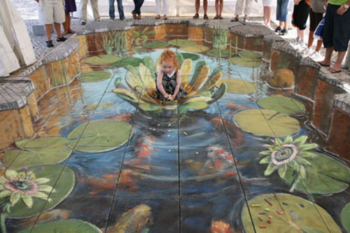 3d chalk drawings update for 3d street painting mural art