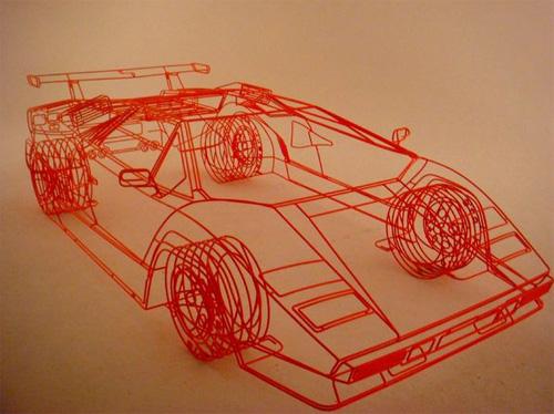 Benedict Radcliffes Wireframe Lamborghini