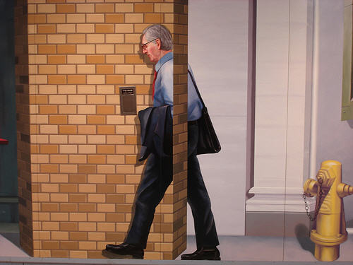 Puzzled Businessman Optical Illusion