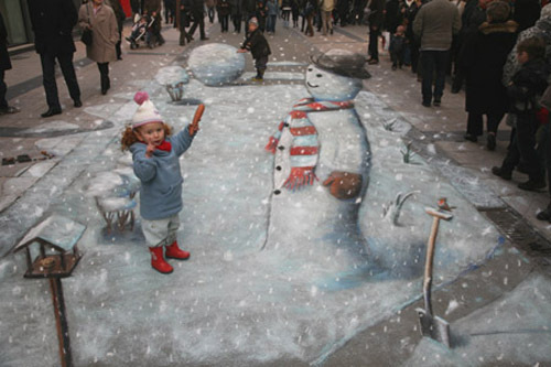 Ballantines 3D Chalk Drawing Illusion