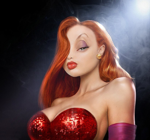 Homer, Mario and Jessica Rabbit in Real Life