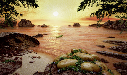 Carl Warners Food Landscapes or Foodscapes