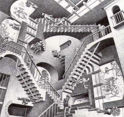 Eschers Relativity Optical Illusion