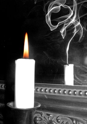Candle And The Mirror Optical Illusion