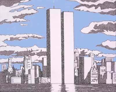 WTC September 11 Poster Optical Illusion