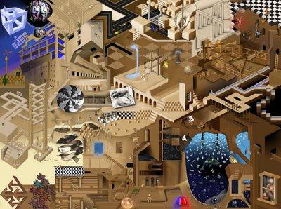 A Tribute To MC Escher: Ultimate Optical Illusion