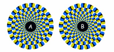 Spinning Discs Illusion
