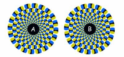 Spinning Discs Illusion
