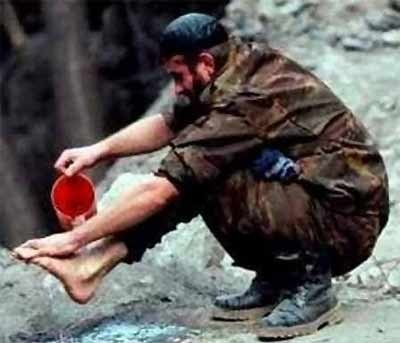 Chechen Soldier Optical Illusion