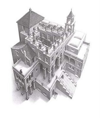 Lego Escher Illusion