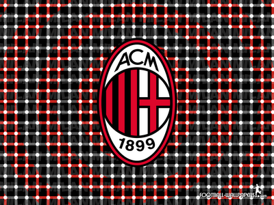 AC Milan Optical Illusion Wallpaper