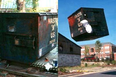 Levitating Dumpster Illusion