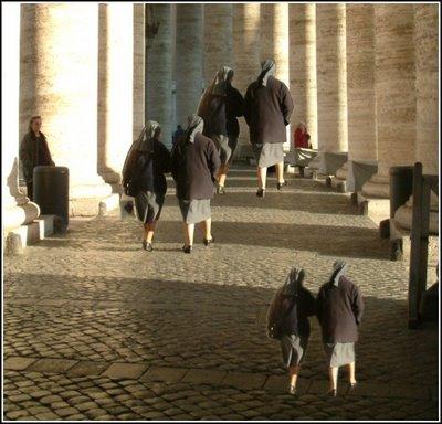 Relative Size Nuns Illusion