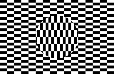 Checkers Optical Illusion