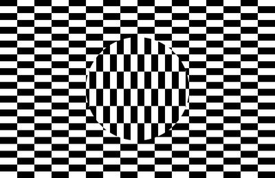 Checkers Optical Illusion