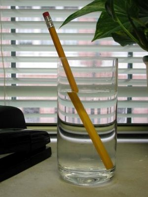 Pencil In The Water Illusion