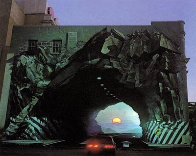 Tunnelvision Mural Illusion