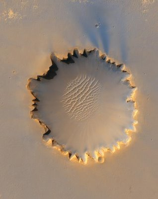 Mars Crater or Convex Mars Island?