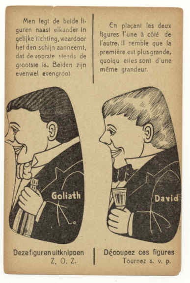 David And Goliath Vintage Illusion