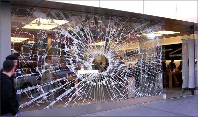 Broken Window Shop Optical Illusion