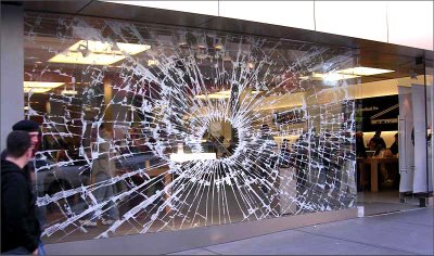 Broken Window Shop Optical Illusion