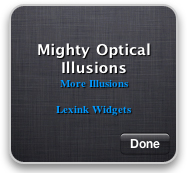 New Mac Widget v7.0   Optical Illusion Of The Day