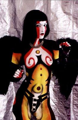 Miró Style Body Art