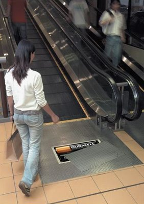 Duracell Battery Powered Escalator Illusion