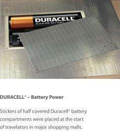 Duracell Battery Powered Escalator Illusion