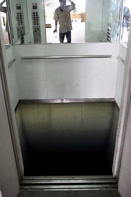 Elevator With No Floor! Go Ahead, Step Inside...