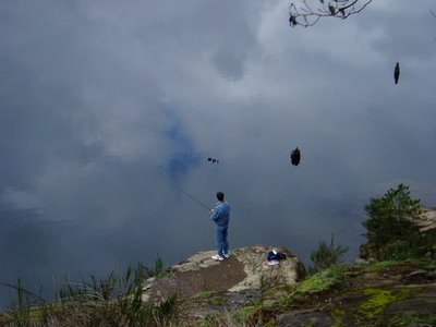 Fishing In The Sky Optical Illusion
