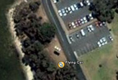 Flying Car captured with Google Earth Illusion