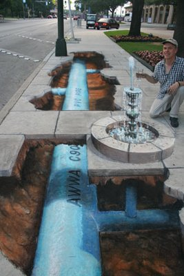New Pavement Drawings by Julian Beever