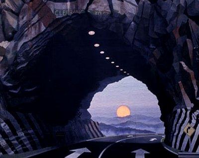 Tunnelvision Mural Illusion